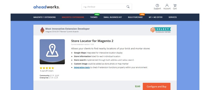 Store Locator for Magento 2(Aheadworks)